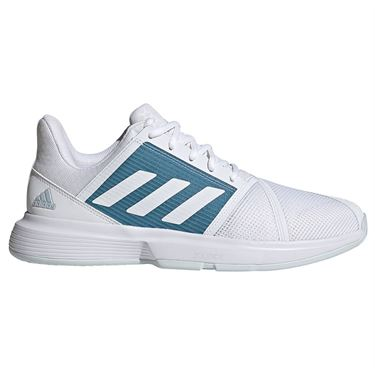 adidas CourtJam Bounce Mens Tennis Shoe White/Hazy Blue FX1492
