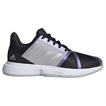 adidas CourtJam Bounce Womens Tennis Shoe Core Black/Silver/Grey Two FX1525