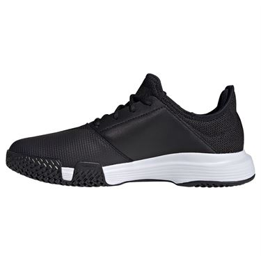 adidas GameCourt Mens Tennis Shoe Core Black/White FX1553