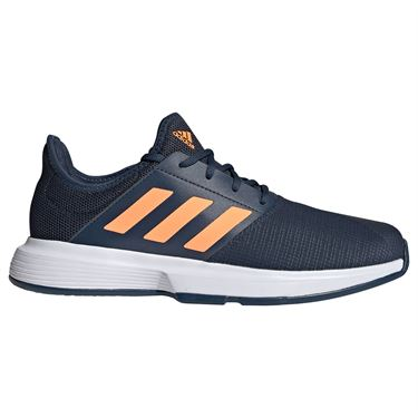 adidas GameCourt Mens Tennis Shoe Crew Navy/Screaming Orange/White FX1555