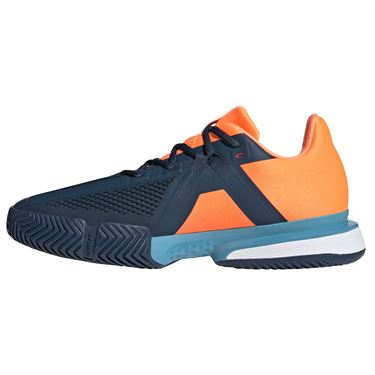 adidas SoleMatch Bounce Mens Tennis Shoe Crew Navy/White/Screaming Orange FX1733