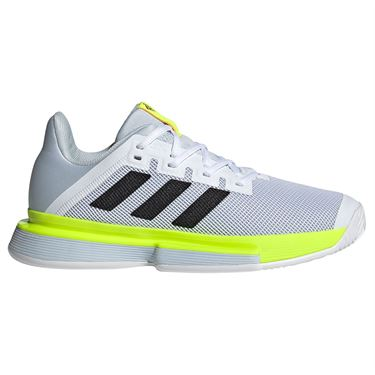 adidas SoleMatch Bounce Womens Tennis Shoe White/Core Black/Solar Yellow FX1741