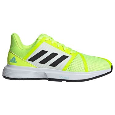 adidas CourtJam Bounce Mens Tennis Shoe Solar Yellow/Core Black/Hazy Sky FX4102