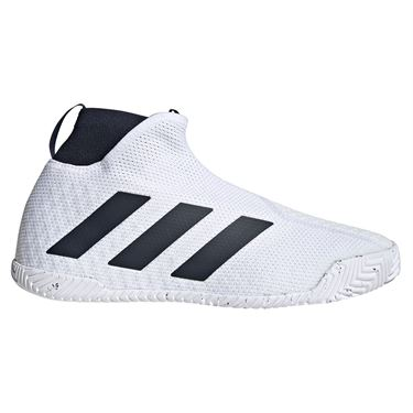 adidas Stycon Laceless Mens Tennis Shoe - White/Legend Ink