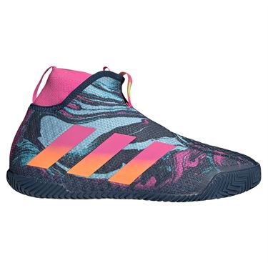 adidas Stycon Mens Tennis Shoe Crew Navy/Screaming Pink/Screaming Orange FY3247
