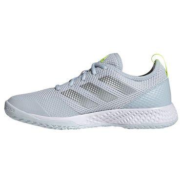 adidas Court Control Womens Tennis Shoe White/Silver/Halo Blue FZ3647