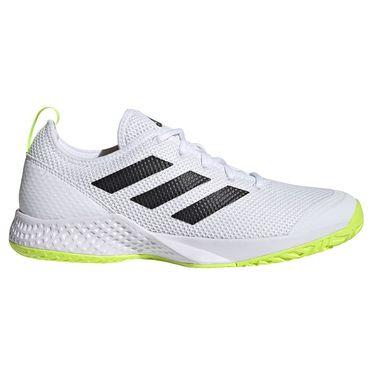 adidas Court Control Mens Tennis Shoe White/Core Black/Solar Yellow FZ3650