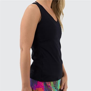 Bluefish Fearless Chichi Tank Womens Black G2044 BK