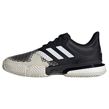 adidas Sole Court Boost Clay Mens Tennis Shoe - Black/White