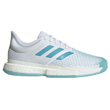 the best attitude c850a e890e adidas Sole Court Boost Parley Mens Tennis Shoe - WhiteVapour BlueBlue  Spirit ...