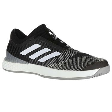 adidas Adizero Ubersonic 3 Mens Tennis Shoe - Core Black/White/Light Granite