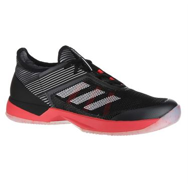 adidas Adizero Ubersonic 3 Womens Tennis Shoe - Core Black/White/Shock Red