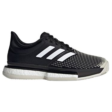 adidas Sole Court Boost Clay Womens Tennis Shoe - Black/White