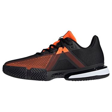 adidas Sole Match Bounce Mens Tennis Shoe - Black/Orange