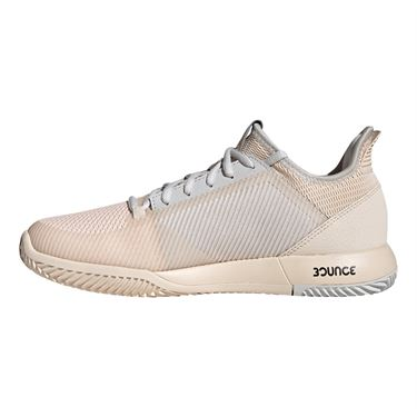 adidas adizero Defiant Bounce 2 Womens Tennis Shoe - Linen/Grey One