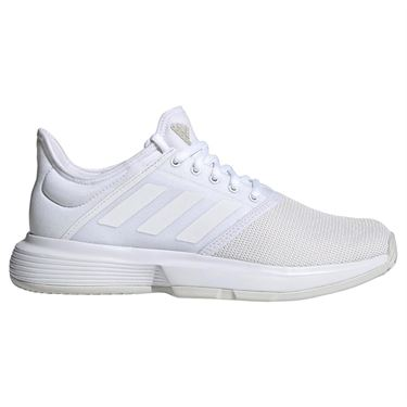 adidas Game Court Wide Womens Tennis Shoe - White/Matte Silver
