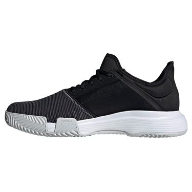 adidas Game Court Wide Mens Tennis Shoe - Black/Grey