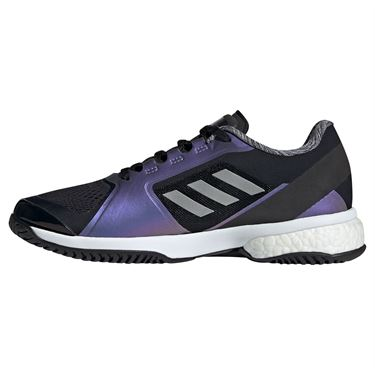 adidas Stella Court Womens Tennis Shoe Core Black/Silver/White G55657