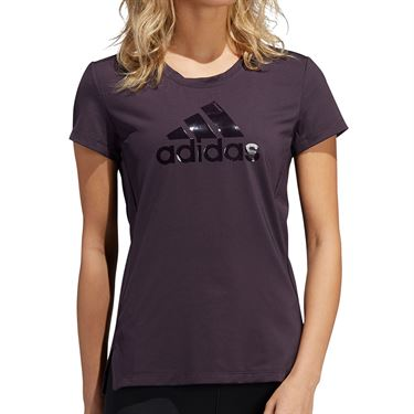 adidas Glam On Bos Tee Shirt Womens Noble Purple GC7666