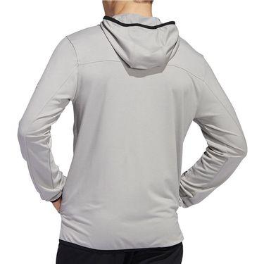 adidas City Studio Fleece Full Zip Hoodie Mens Solid Grey GC8212