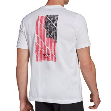adidas US Open Tee Shirt Mens White GD9115