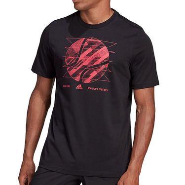 adidas US Open Tee Shirt Mens Black GD9117