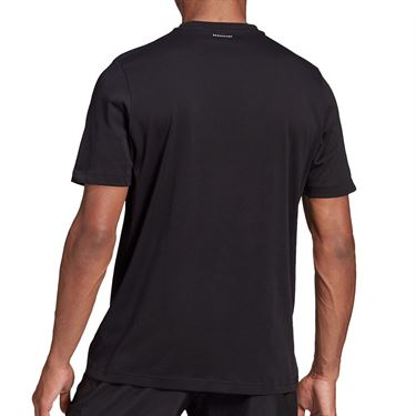 adidas US Open Tee Shirt Mens Black GD9117
