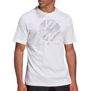 adidas US Open Tee Shirt Mens White GD9218