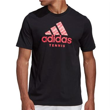 adidas Tennis Logo Tee Shirt Mens Black GD9220