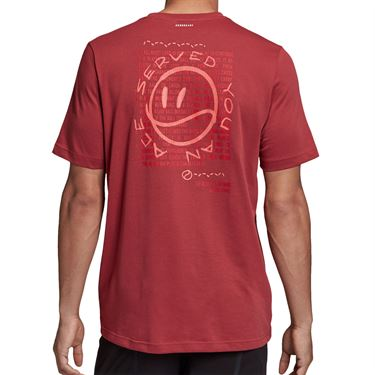 adidas Tennis Graphic Logo Tee Shirt Mens Legacy Red GD9222
