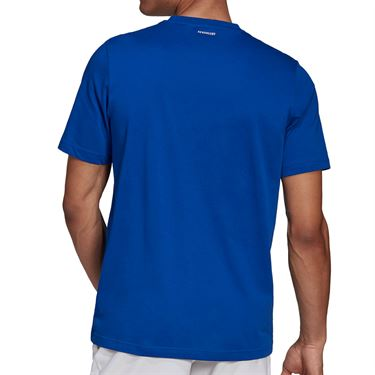 adidas Tennis Graphic Logo Tee Shirt Mens Royal Blue GD9224