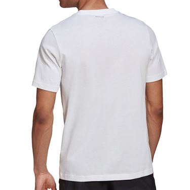 adidas Tennis Graphic Logo Tee Shirt Mens White GD9225