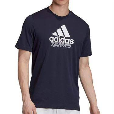adidas Tennis Graphic Logo Tee Shirt Mens Legend Ink GD9226