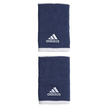 adidas Tennis Large Wristband - Tech Indigo/White