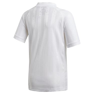 adidas Boys Freelift Tennis T-Shirt White/Scarlett GE4820