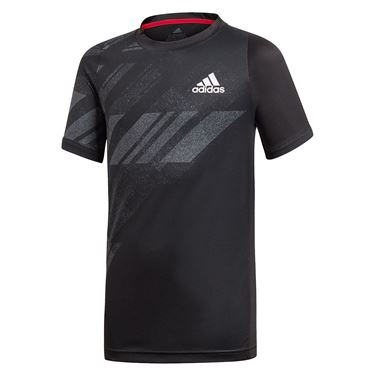 adidas Boys Tee Shirt Black GE4822