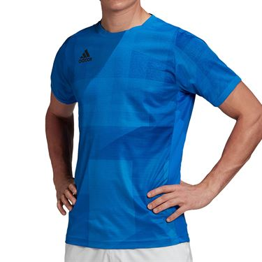 adidas Olympics Crew Shirt Mens Glory Blue GE4841