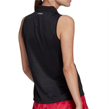 adidas Collared Tank Womens Black GG3785
