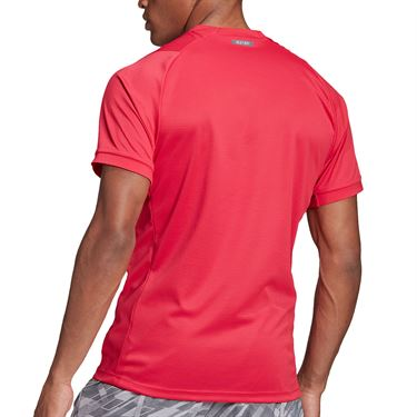 adidas Freelift Solid Crew Shirt Mens Power Pink GH4570
