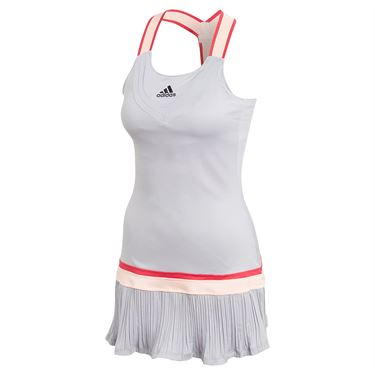 adidas Y Back Dress with Shorties Womens Glory Grey GH4631