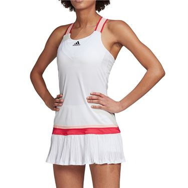 adidas Y Back Dress with Shorties Womens White GH4632