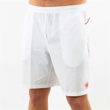 Lacoste Novak Djokovic Semi Fancy Short Mens White/Fireman GH4766 B6C