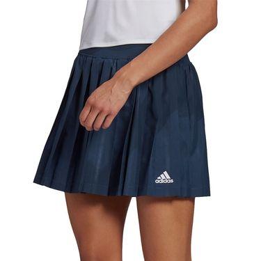 adidas Club Pleat Skirt Womens Crew Navy/White GH7219