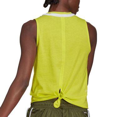 adidas Club Knot Tank Womens Acid Yellow/White GH7233