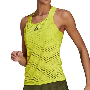 adidas Y Tank Womens Acid Yellow/Crew Navy GH7593