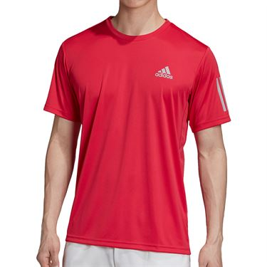 adidas 3-Stripes Club Tee Mens Power Pink GI9289
