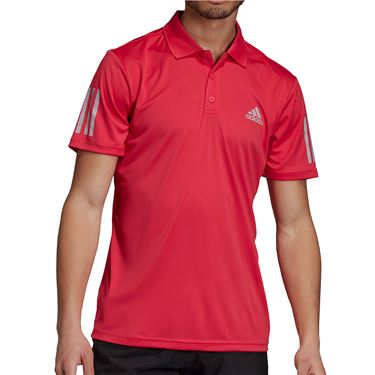 adidas 3-Stripes Club Polo Shirt Mens Power Pink GI9292