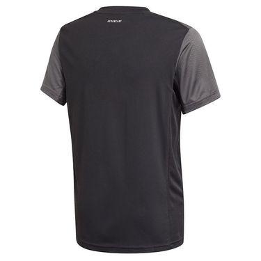 adidas Boys Club Tee Shirt Black/Grey Six/White GK8181