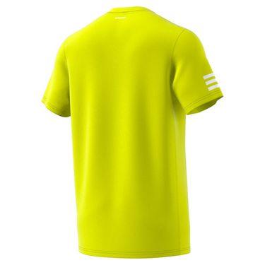 adidas Club 3 Stripe Tee Shirt Mens Acid Yellow/White GL5402