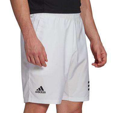 adidas Club 3 Stripe Short Mens White/Black GL5412